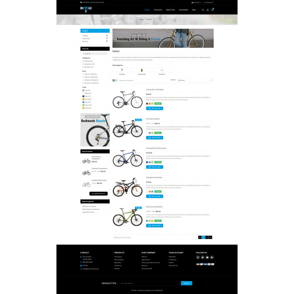 theme - Auto's & Motoren - Bicycle Store - 4