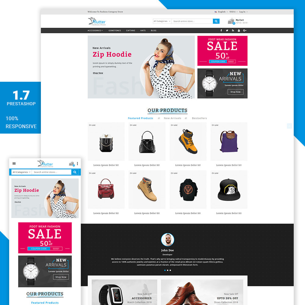 theme - Moda & Calzature - Flutter - The fashion shop - 1