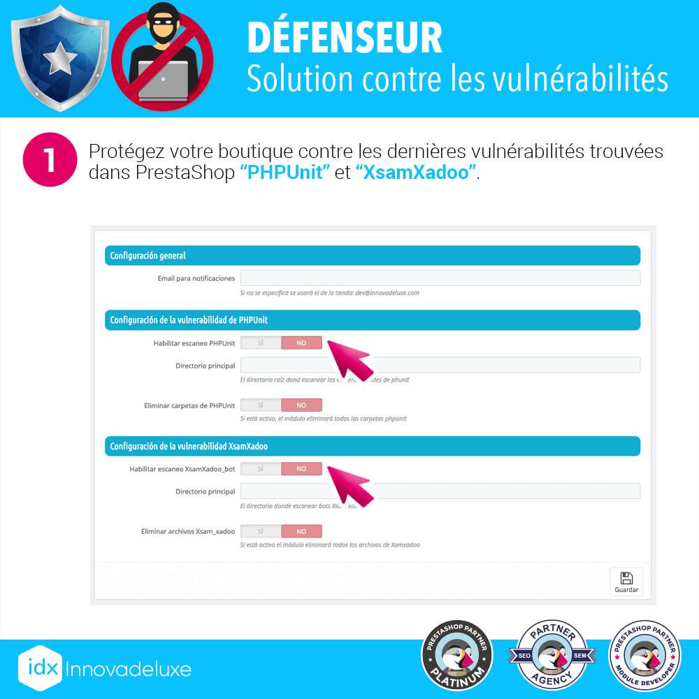module - Administration du site - Suppression des vulnérabilités  PHPUnit et XsamXadoo - 2