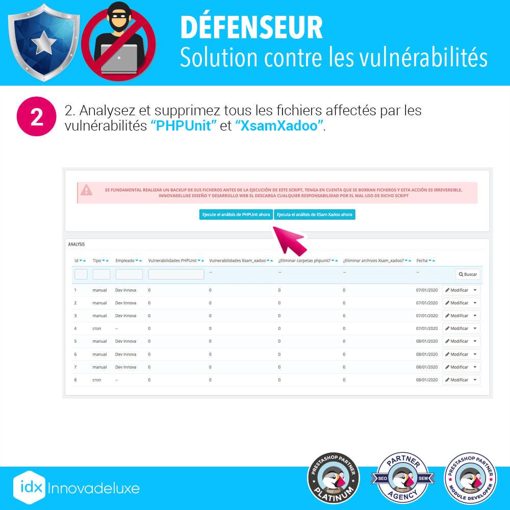 module - Administration du site - Suppression des vulnérabilités  PHPUnit et XsamXadoo - 3