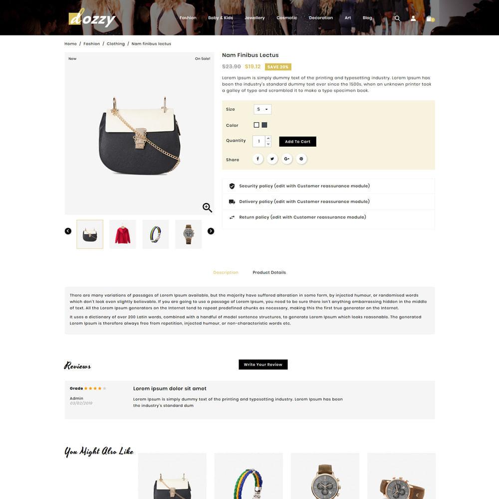 theme - Мода и обувь - Dozzy Fashion Shop - 4