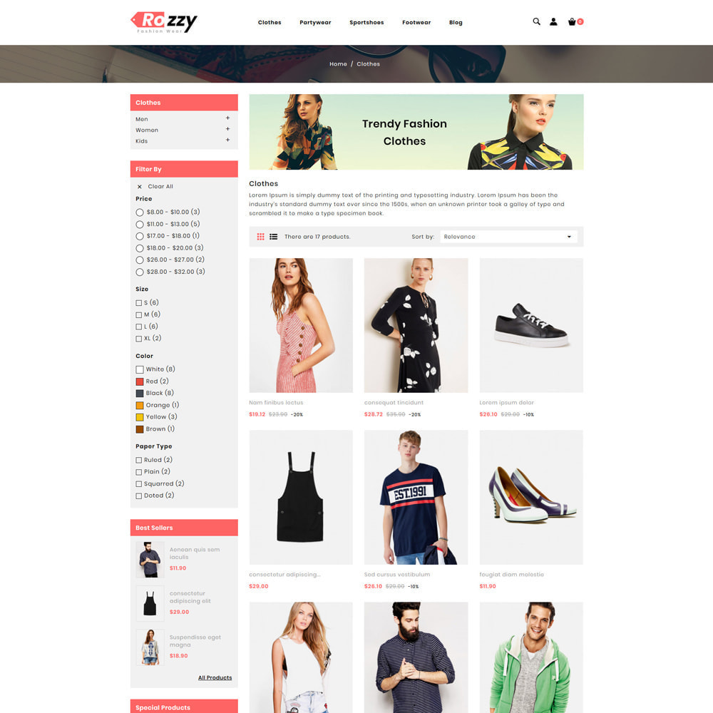 theme - Мода и обувь - Rozzy Fashion Store - 3