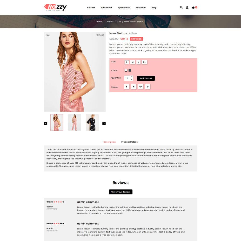 theme - Мода и обувь - Rozzy Fashion Store - 4