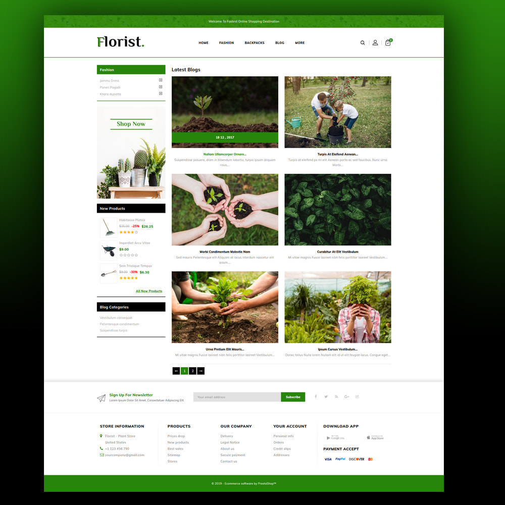 theme - Home & Garden - Florist - Plant Store - 6