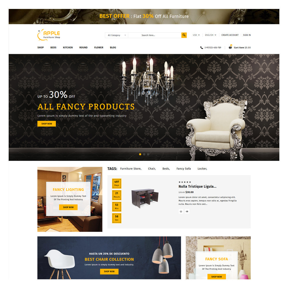 theme - Hogar y Jardín - Apple Home & Furniture Store - 2