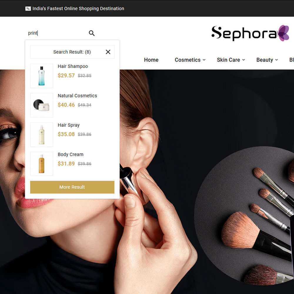 theme - Здоровье и красота - Sephora Mega Bio–Cosmetics Health–Beauty Super Store - 6