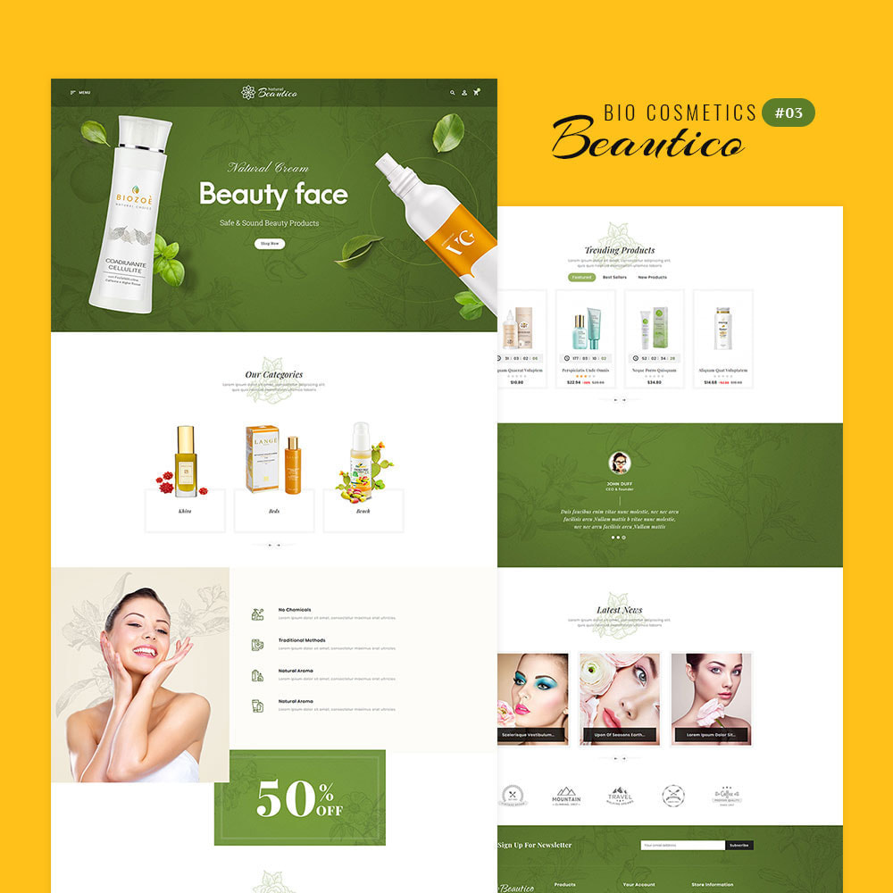 theme - Saúde & Beleza - Beautico - Beauty & Cosmetics - 4