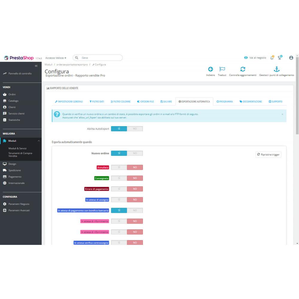 module - Data Import & Export - Migliori Rapporti di Vendita ed Esportazioni Contabili - 8