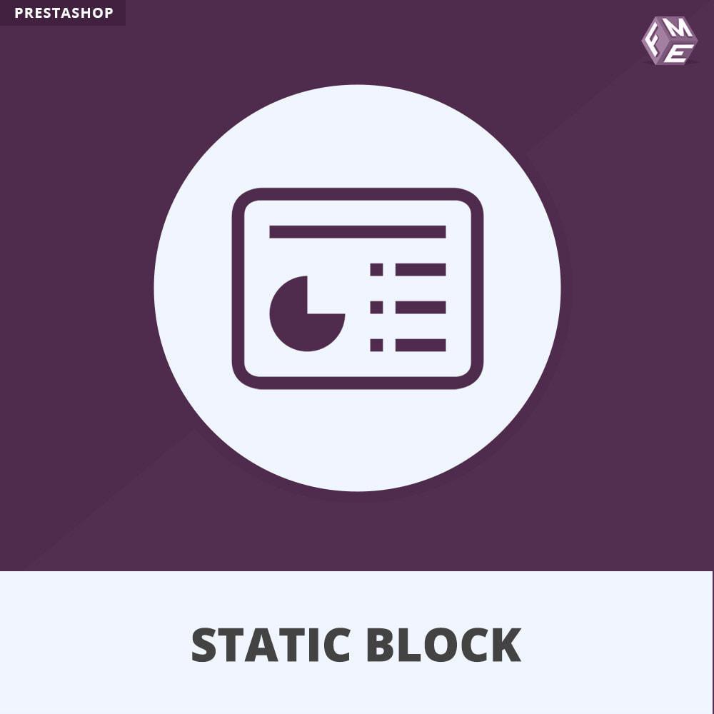 module - Blocs, Onglets & Bannières - Blocs Statiques - Ajouter HTML, Texte, Blocs de Média - 1