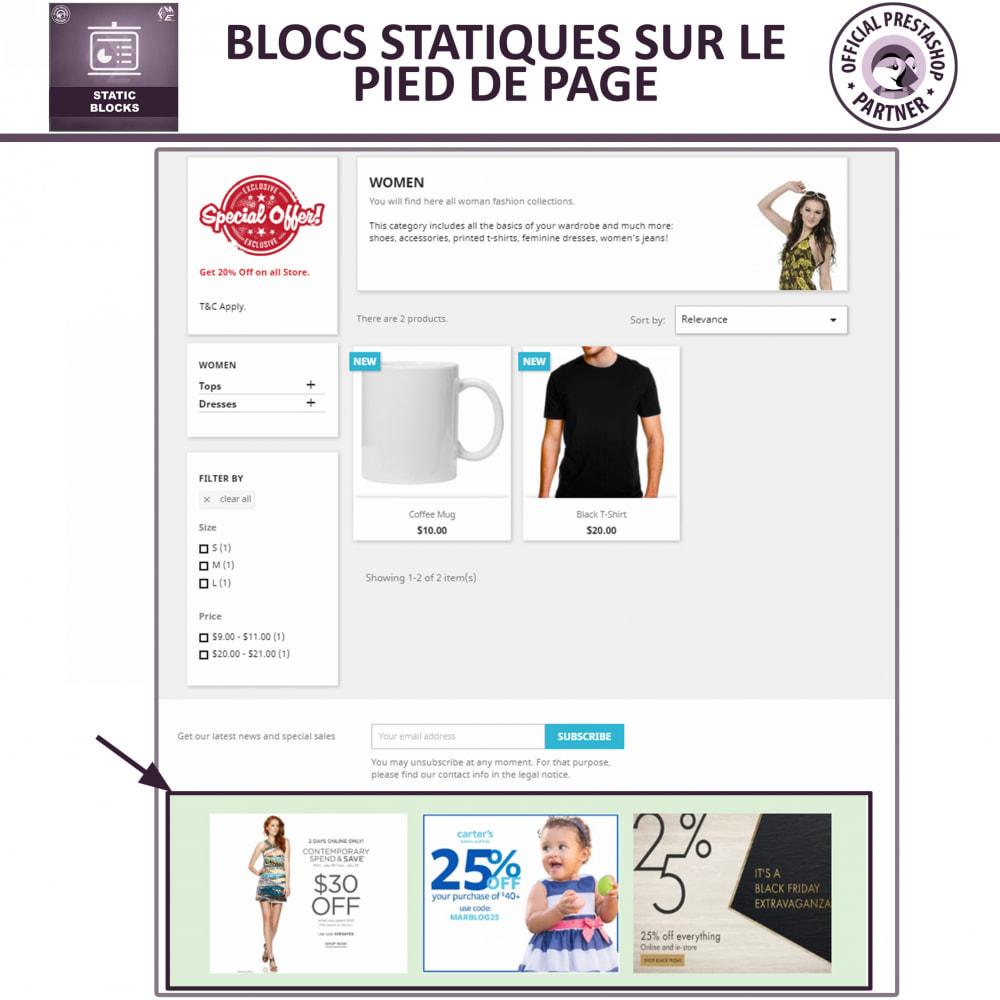 module - Blocs, Onglets & Bannières - Blocs Statiques - Ajouter HTML, Texte, Blocs de Média - 4