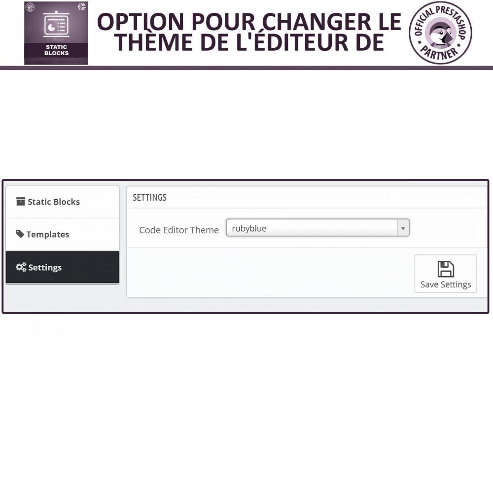 module - Blocs, Onglets & Bannières - Blocs Statiques - Ajouter HTML, Texte, Blocs de Média - 13