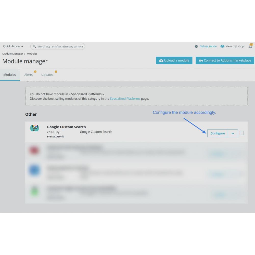 module - SEO (Indicizzazione naturale) - Google Custom Search Engine Pro - 1