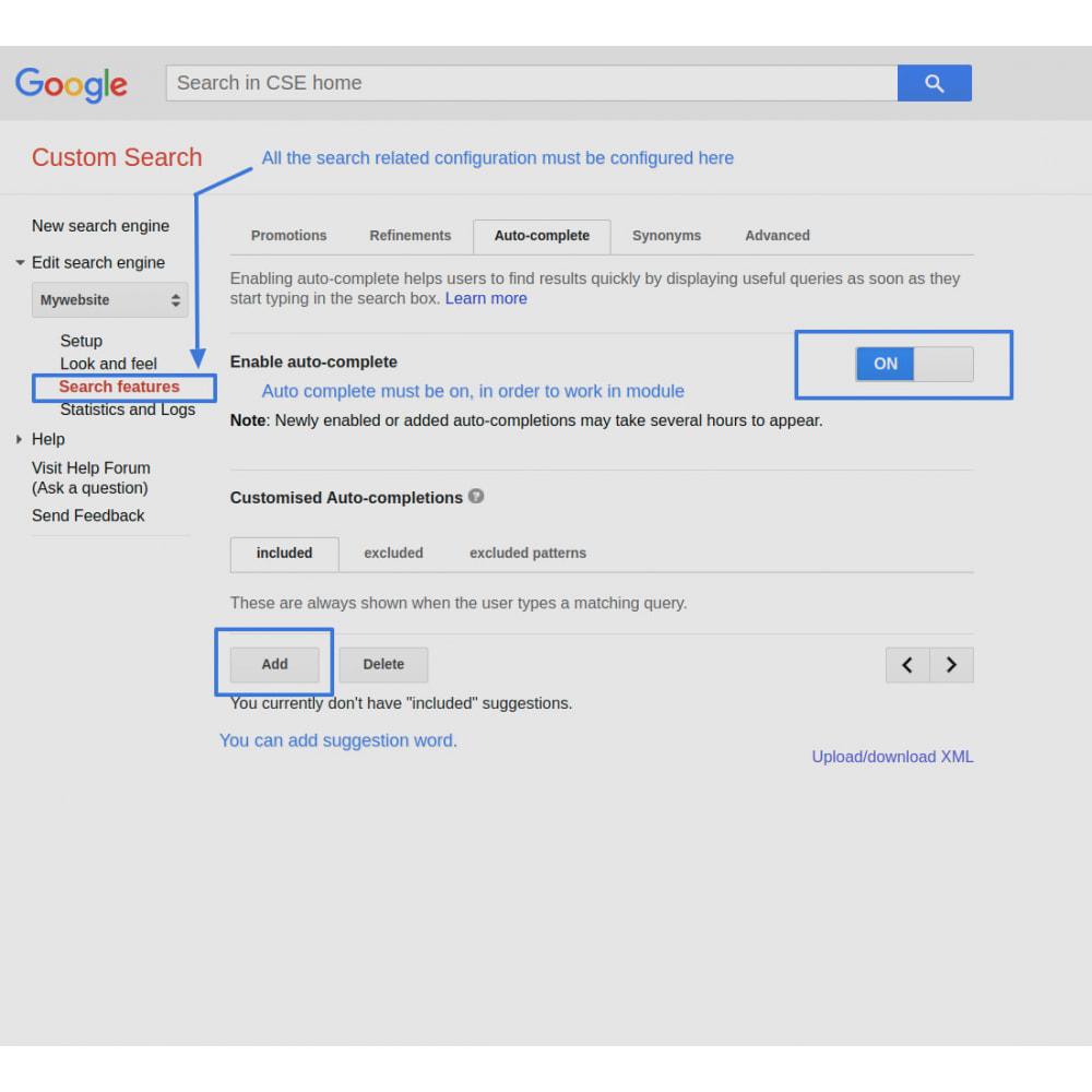 module - SEO (Indicizzazione naturale) - Google Custom Search Engine Pro - 11