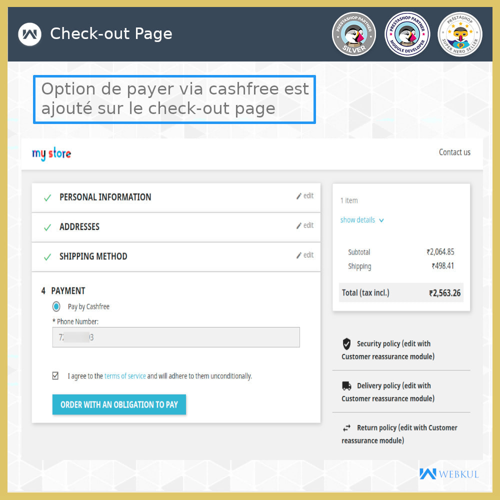 module - Paiement par Carte ou Wallet - Passerelle de paiement UPI - 2