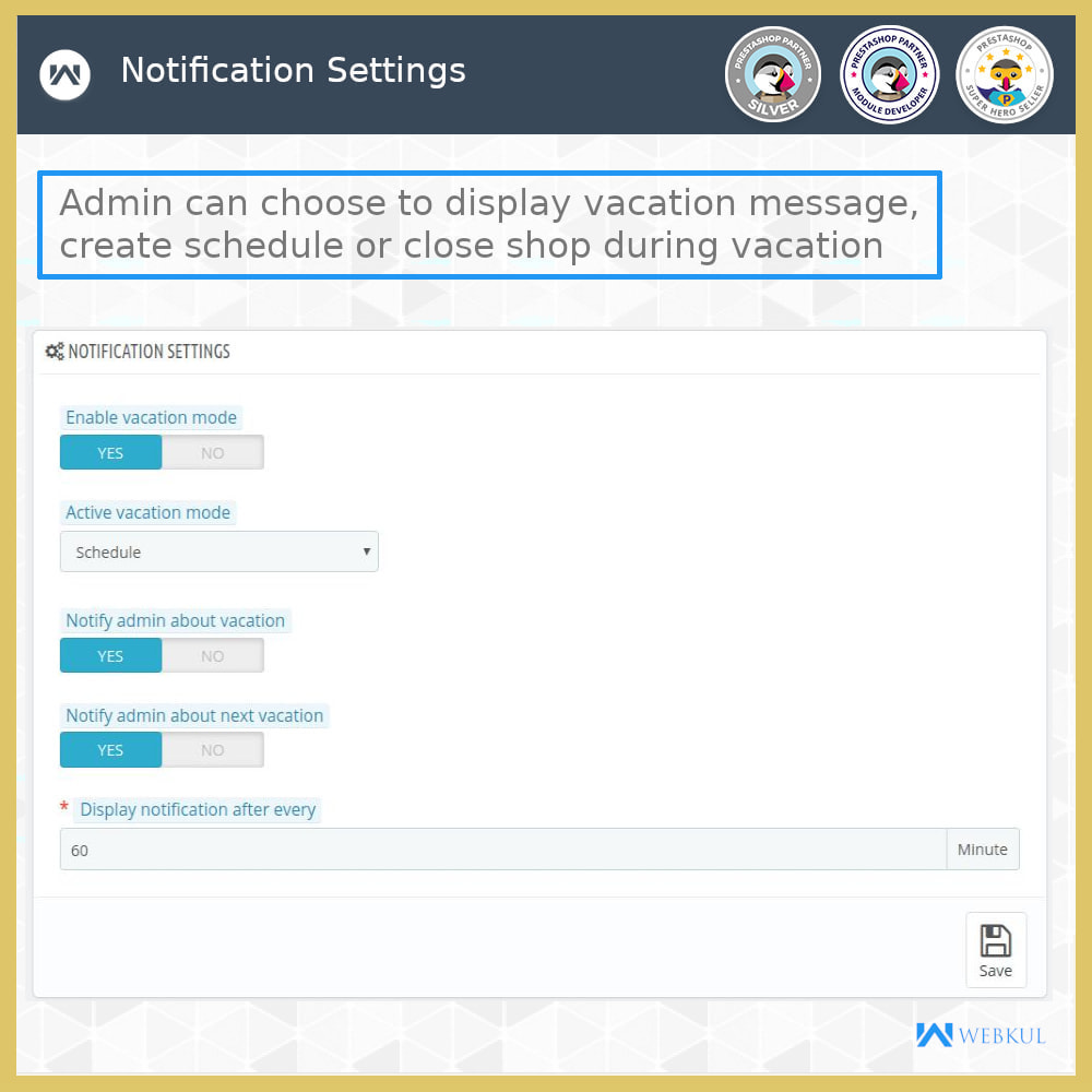 module - Email & Notifiche - Admin Vacation - 5
