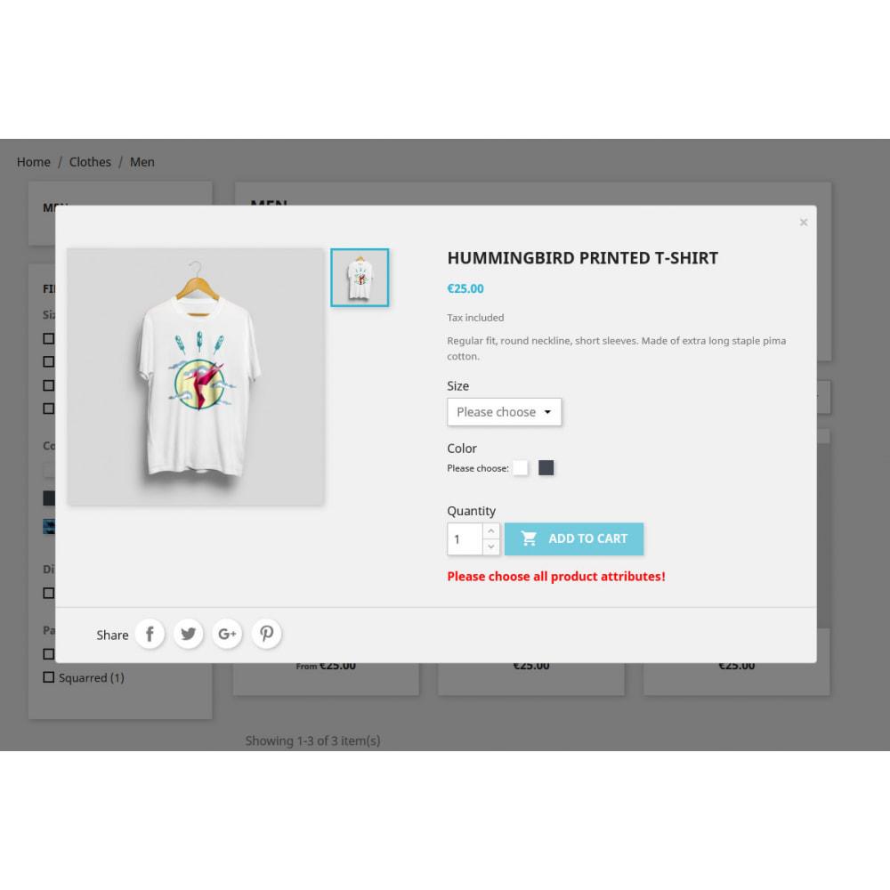 module - Combinazioni & Personalizzazione Prodotti - Please choose attributes - Product combination check - 2