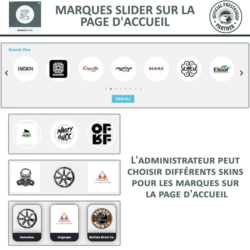 module - Marques & Fabricants - Brands Plus, Marques reactive et Carrousel de Fabricant - 3