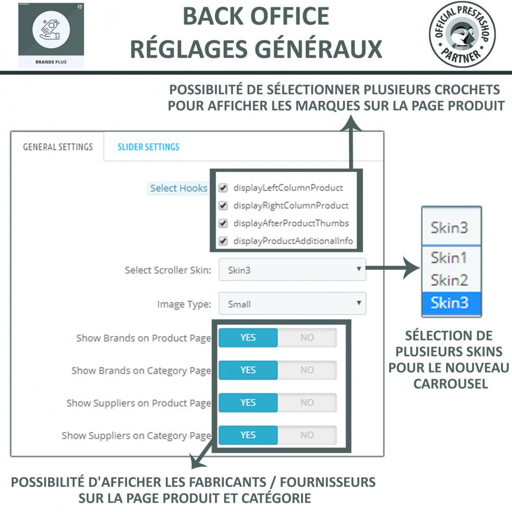 module - Marques & Fabricants - Brands Plus, Marques reactive et Carrousel de Fabricant - 8