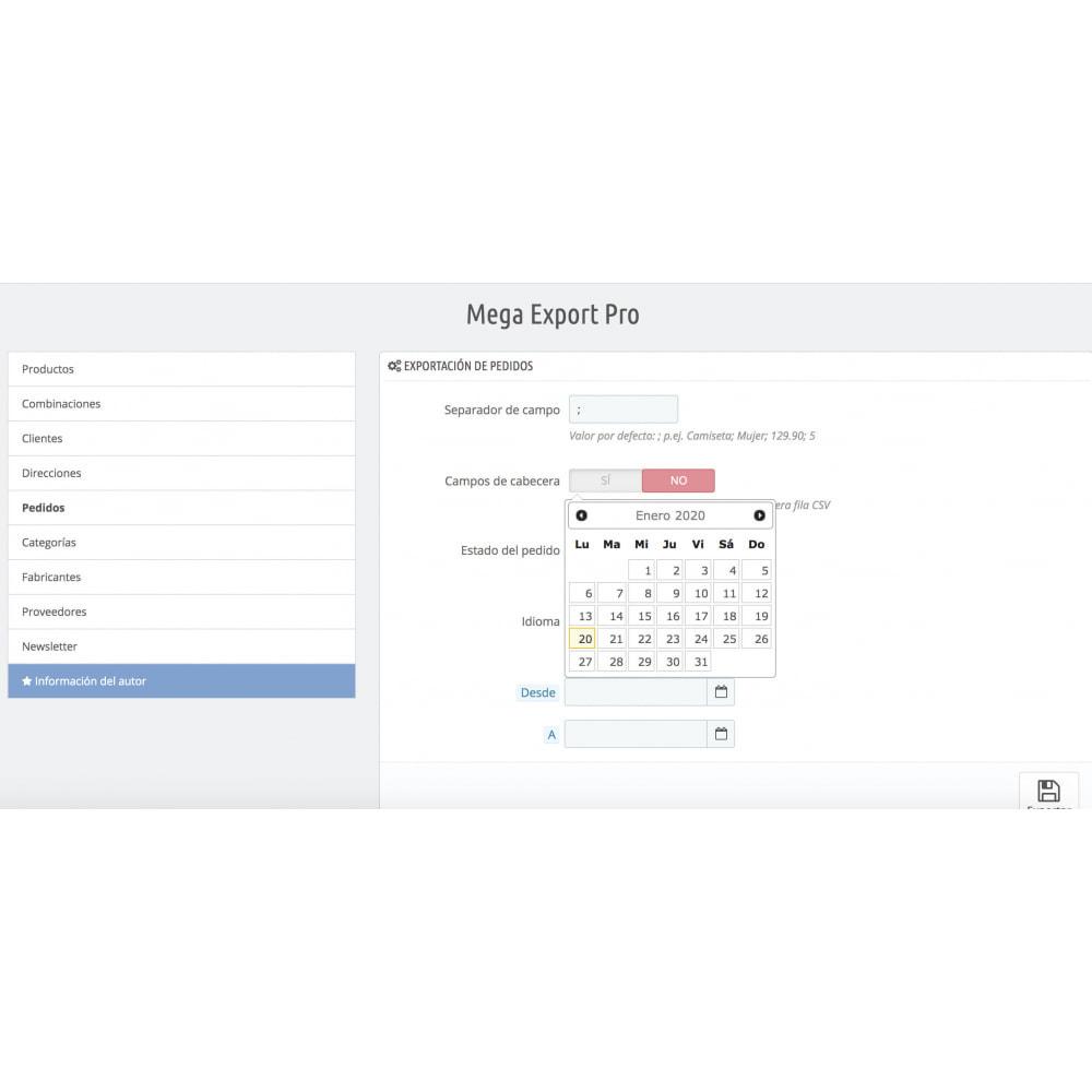 module - Importación y Exportación de datos - Mega Export Pro - 7