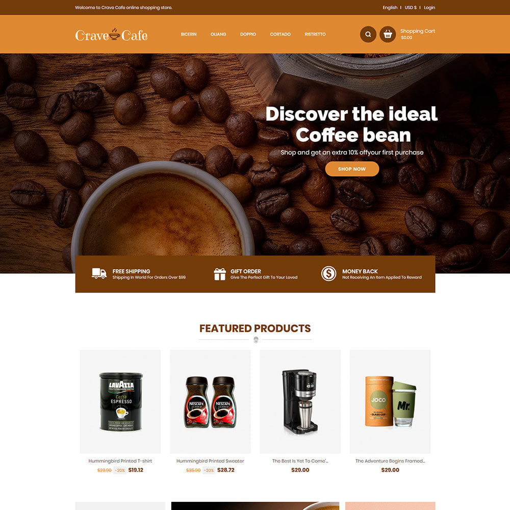 theme - Напитки и с сигареты - Cafe Drink - Coffee Tea  Restaurant  Food Store - 2