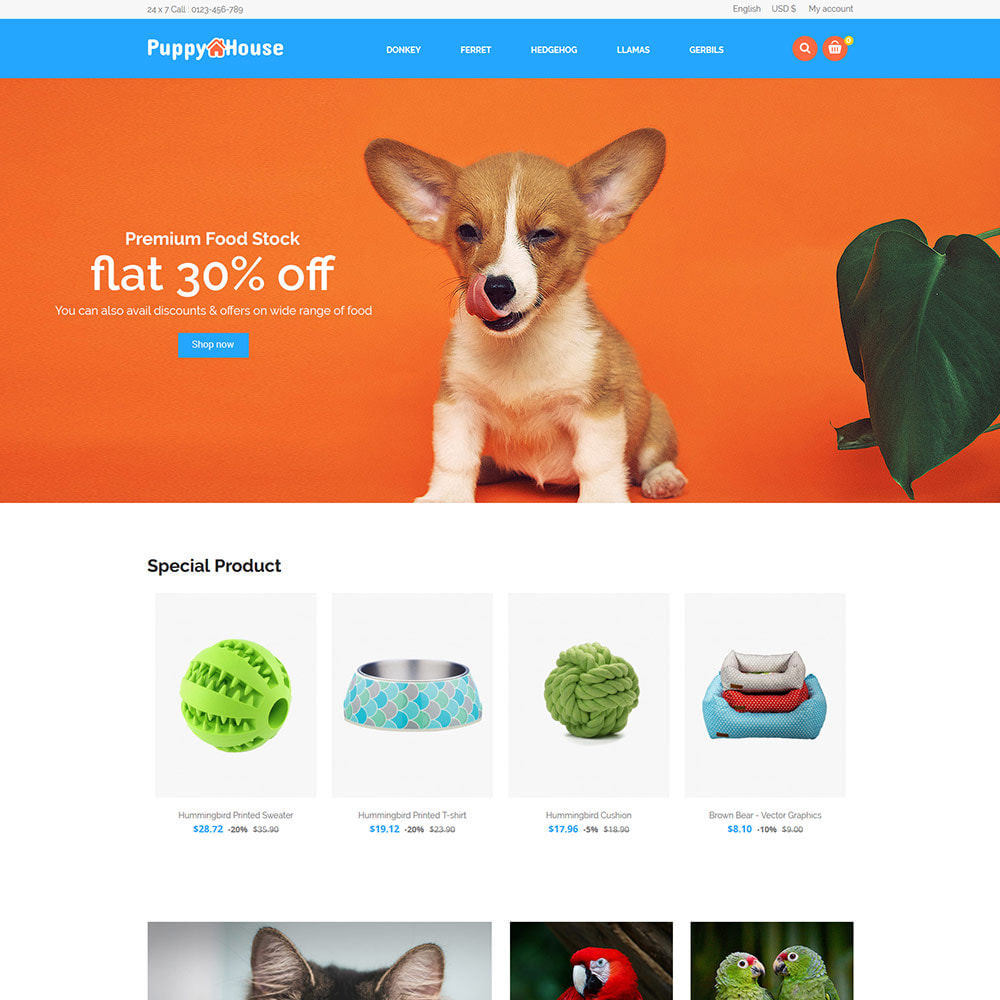 theme - Animaux - Puppy Pet Care - Animal Cat  Nutrition Store - 2