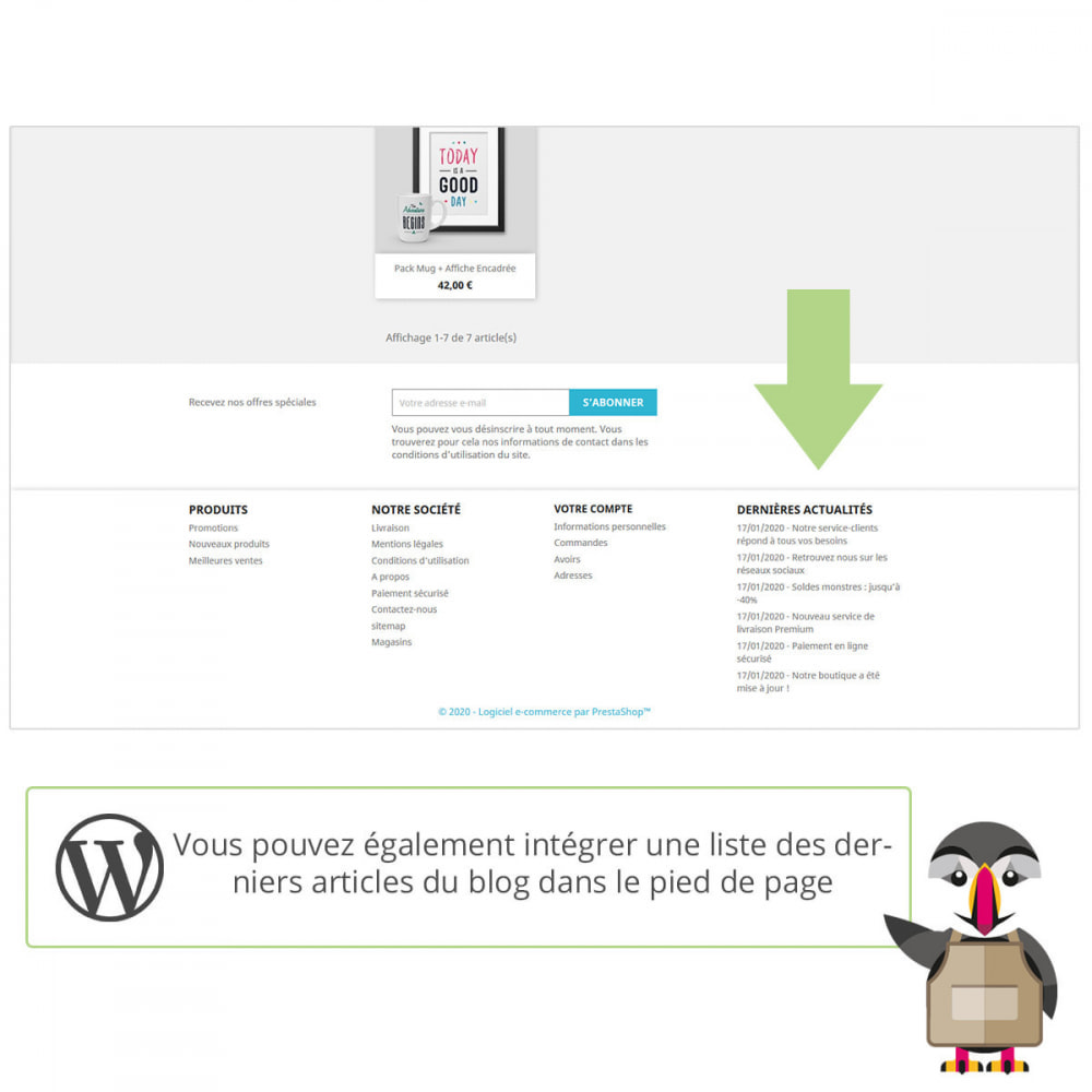 module - Blog, Forum & Actualités - Mes actus Wordpress - 3
