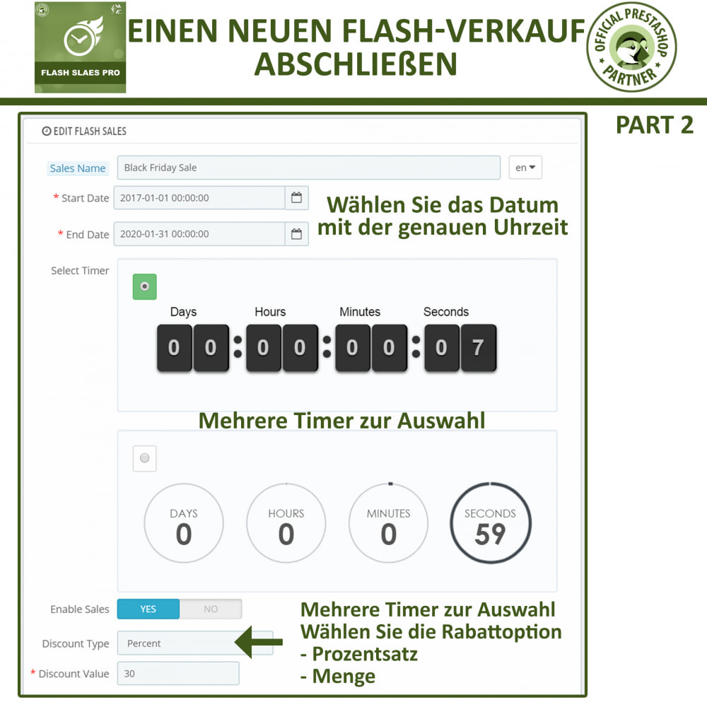 module - Flash & Private Sales - Flash Sales Pro - Werbeverkauf mit Countdown-Timer - 10