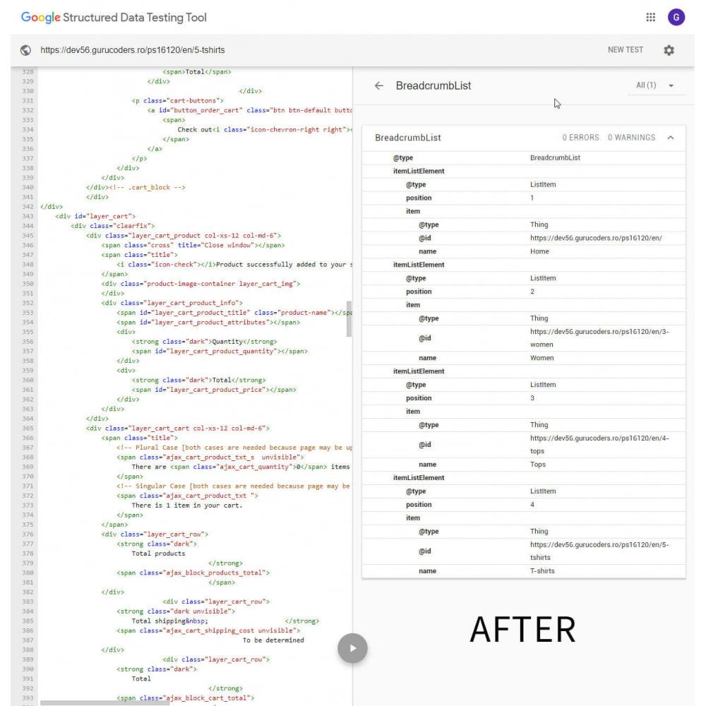 module - Естественная поисковая оптимизация - Google Breadcrumb Schema - 2