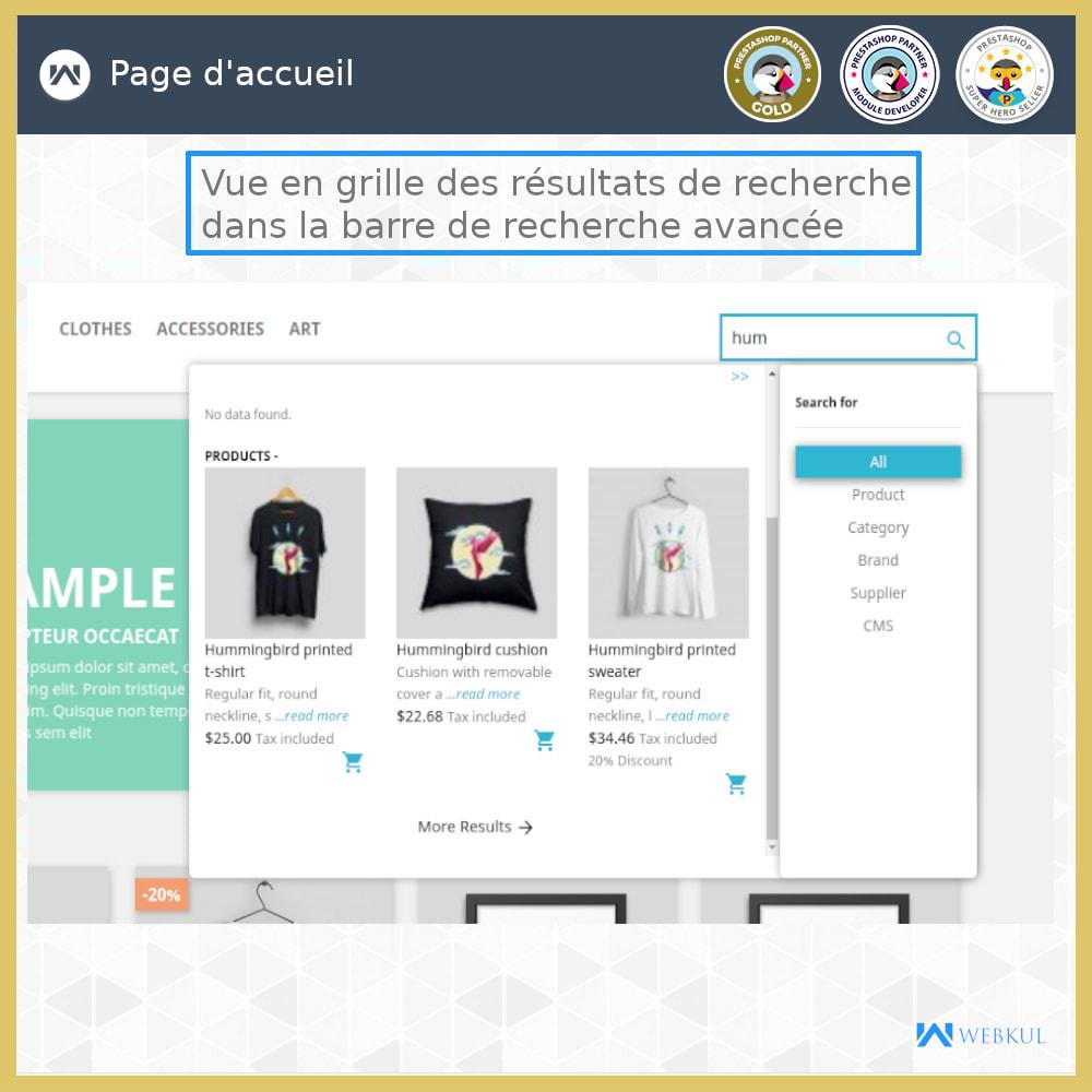 module - Recherche & Filtres - Recherche Avancée - 5