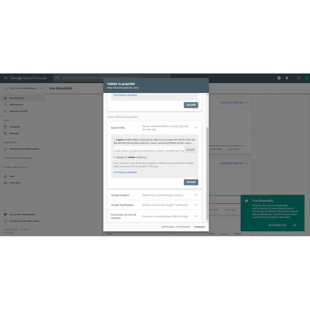 module - SEO (Posicionamiento en buscadores) - Herramientas para webmasters - 2