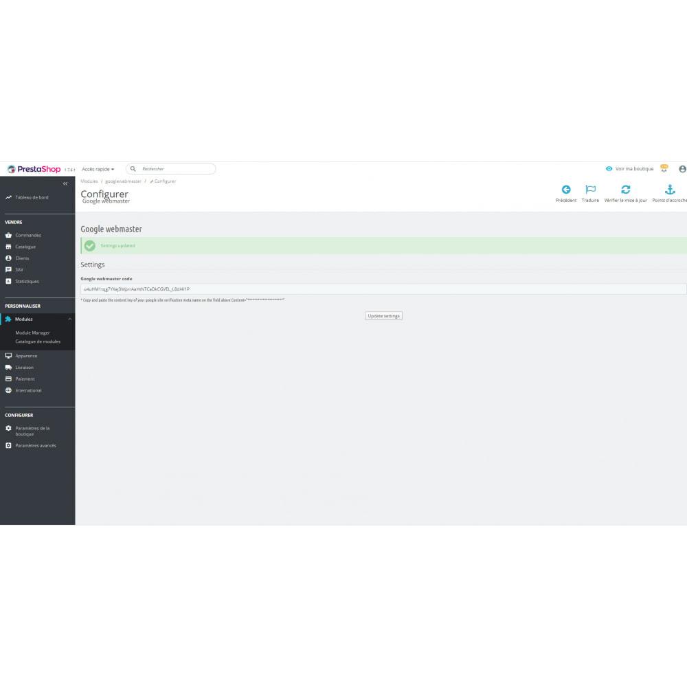 module - SEO (Posicionamiento en buscadores) - Herramientas para webmasters - 3