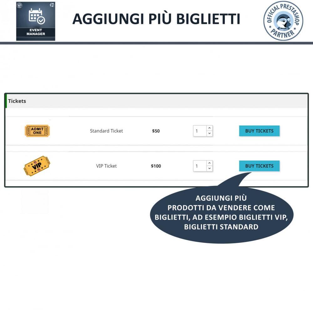 module - Prenotazioni & Noleggi - Manager degli Eventi, Crea Eventi & Vendi biglietti - 5