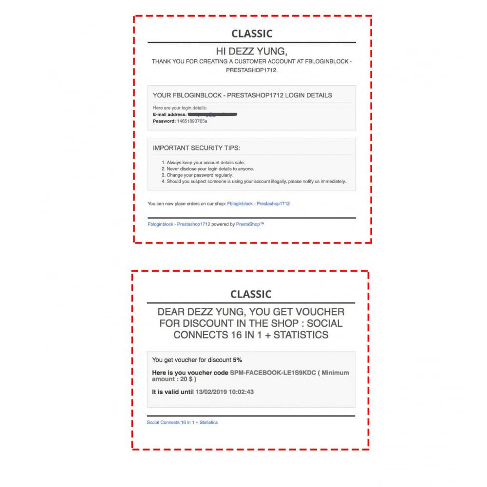 module - Botones de inicio de Sesión/Conexión - Sociales Login & Conexiones 40 en 1 Cupón, Estadísticas - 6