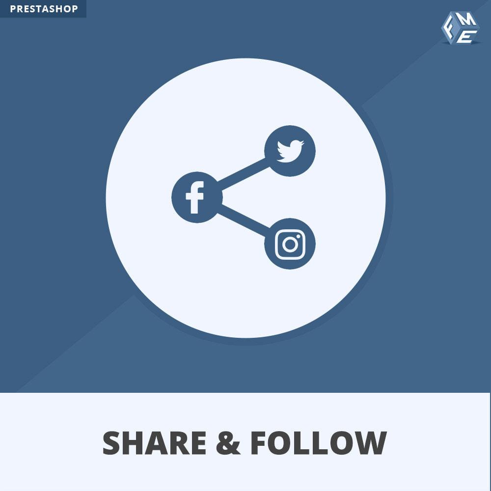 module - Boutons de Partage & Commentaires - Partagez et Suivez - Widget Social - 1