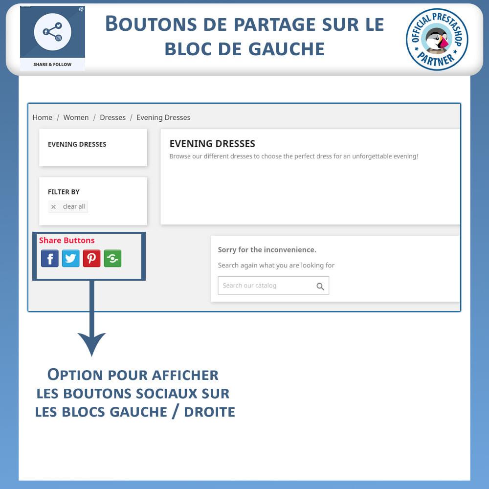 module - Boutons de Partage & Commentaires - Partagez et Suivez - Widget Social - 3