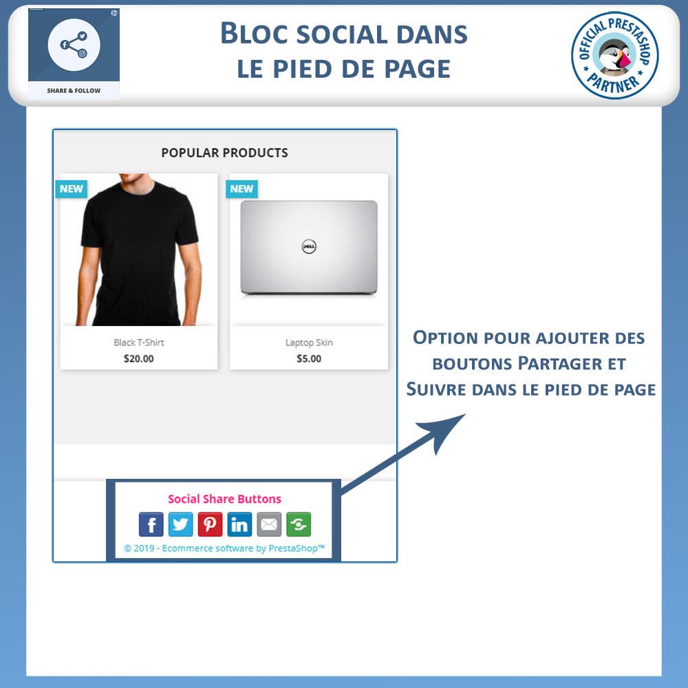module - Boutons de Partage & Commentaires - Partagez et Suivez - Widget Social - 5