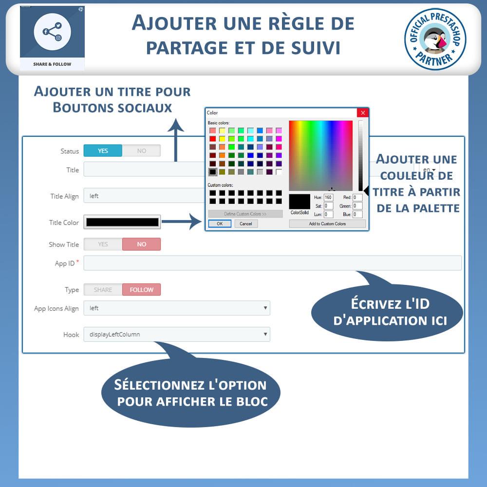 module - Boutons de Partage & Commentaires - Partagez et Suivez - Widget Social - 9
