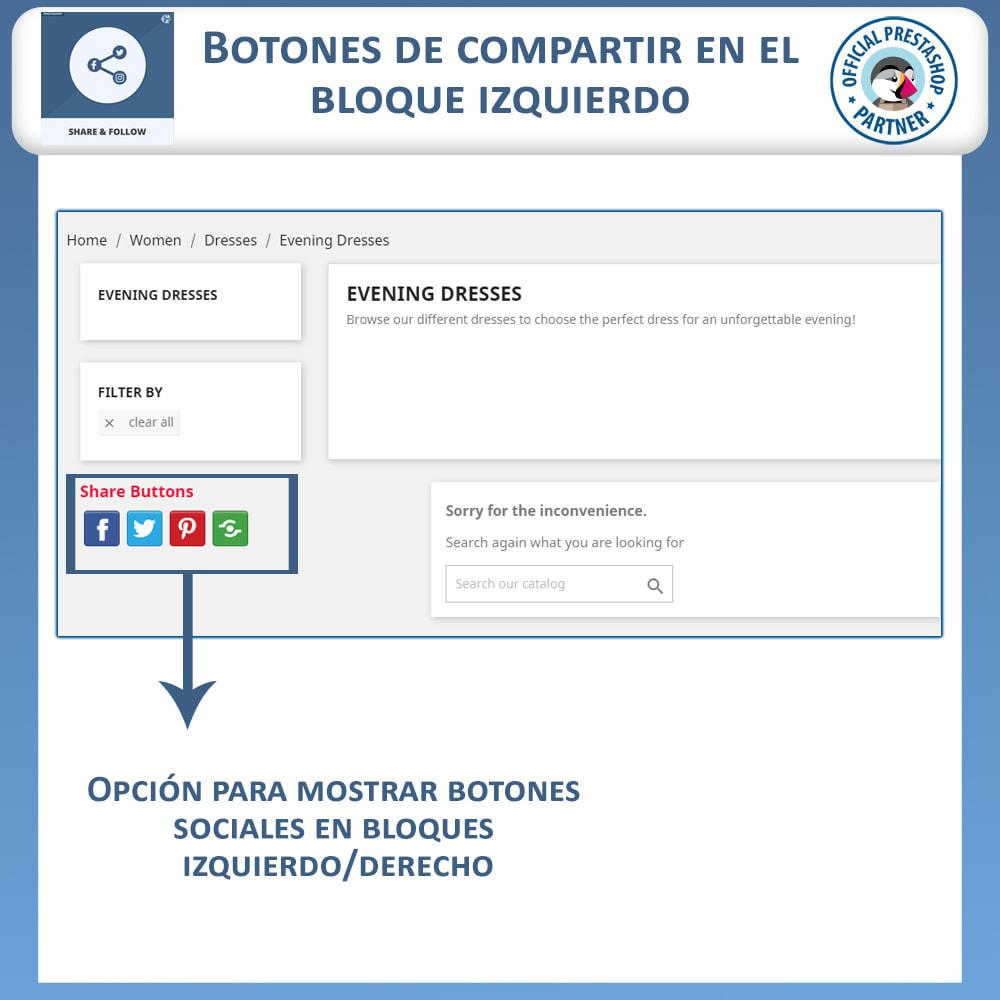 module - Compartir contenidos y Comentarios - Compartir y Seguir - Widget social - 3