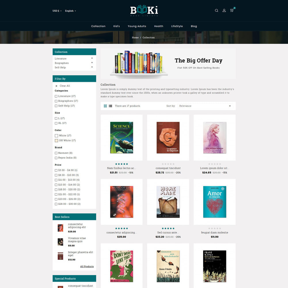 theme - Home & Garden - Booki Book Shop - 4