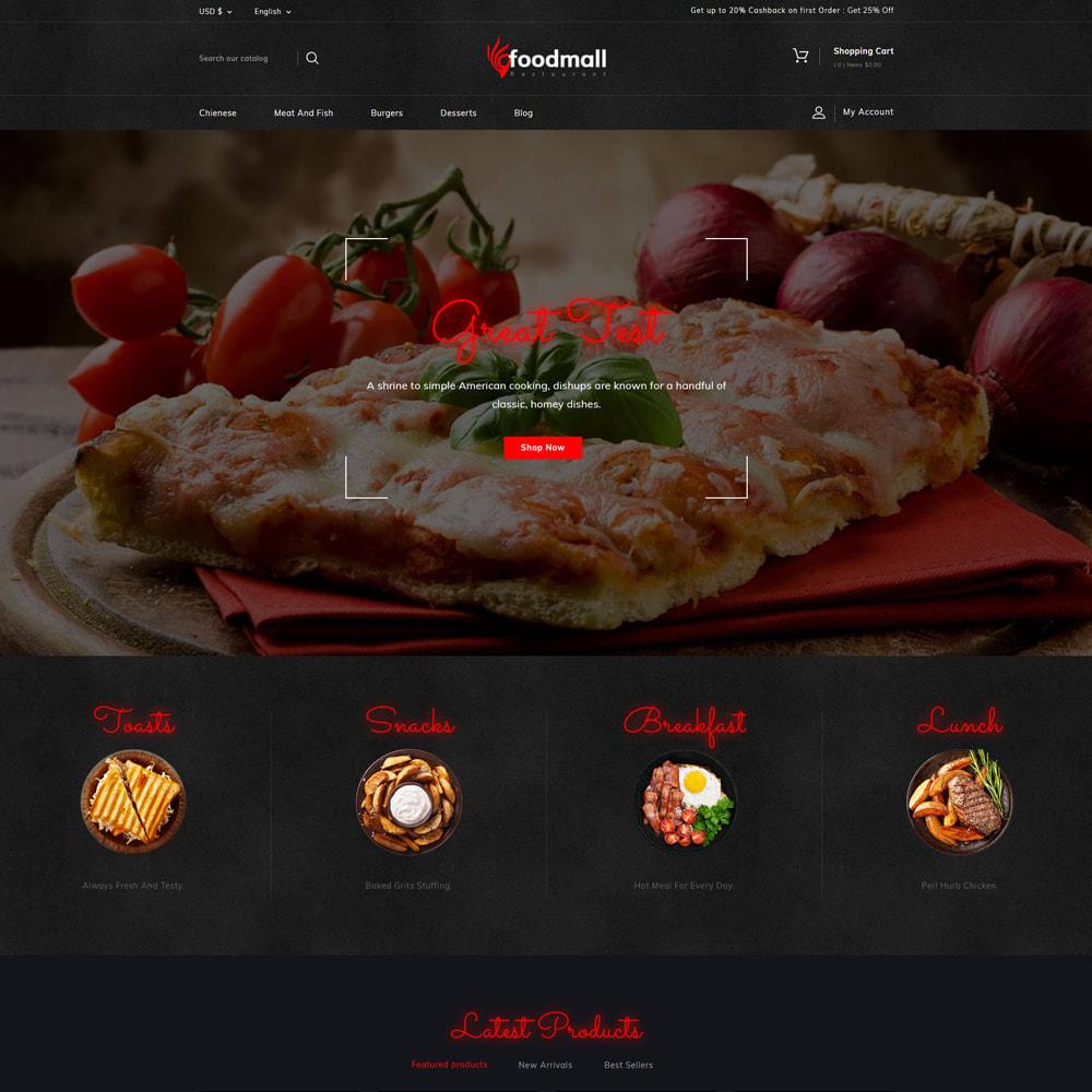 theme - Food & Restaurant - Foodmall Online Food Shop - 2