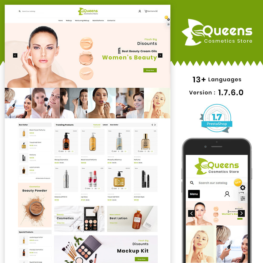theme - Health & Beauty - Queens Cosmetic Shop - 1