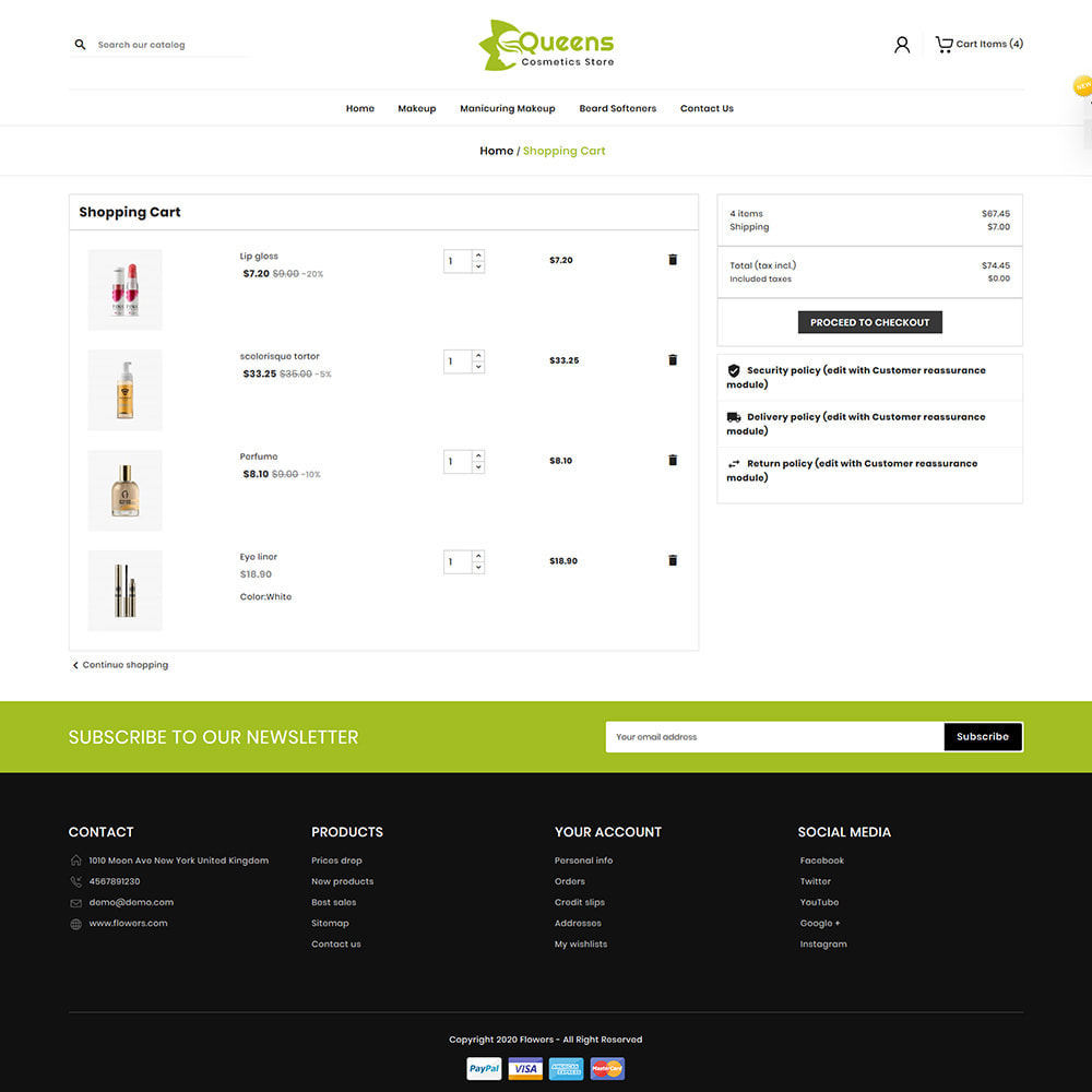 theme - Health & Beauty - Queens Cosmetic Shop - 6