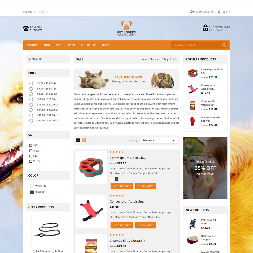 theme - Tier - Petlovers Animals & Pet Shop - 4