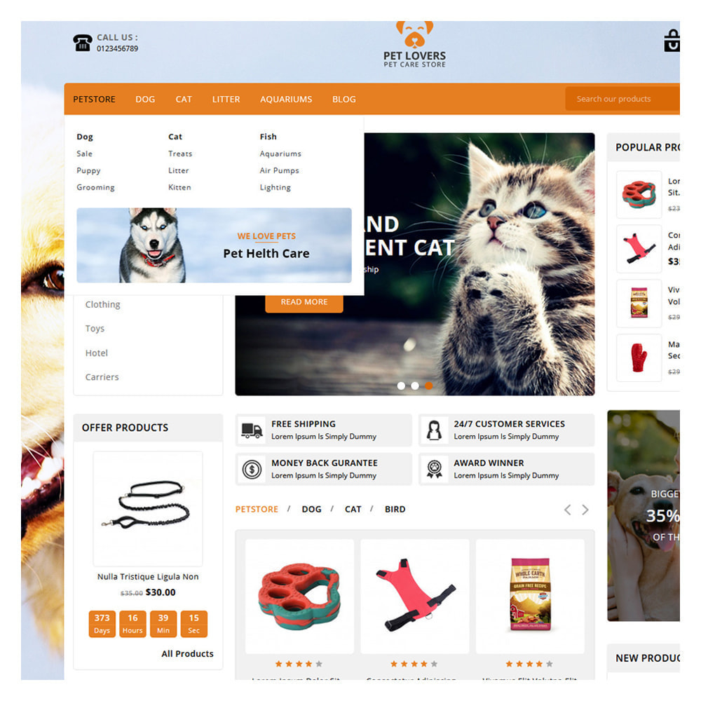 theme - Tier - Petlovers Animals & Pet Shop - 7