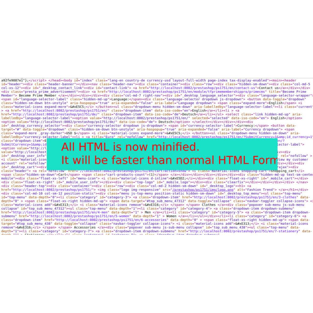 module - Rendimiento del sitio web - Minify HTML, CSS & JS Pro - 5