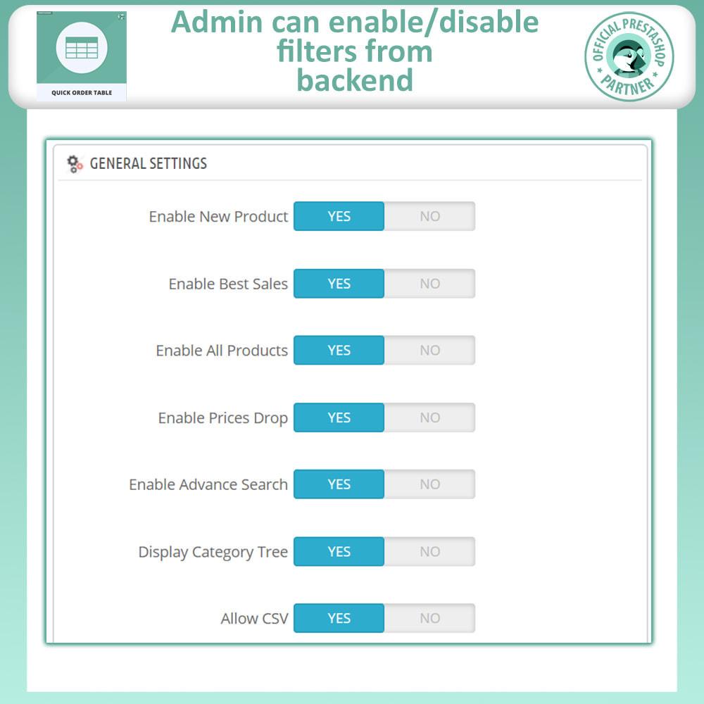 module - Order Management - Quick Order Form | Order Table - 7