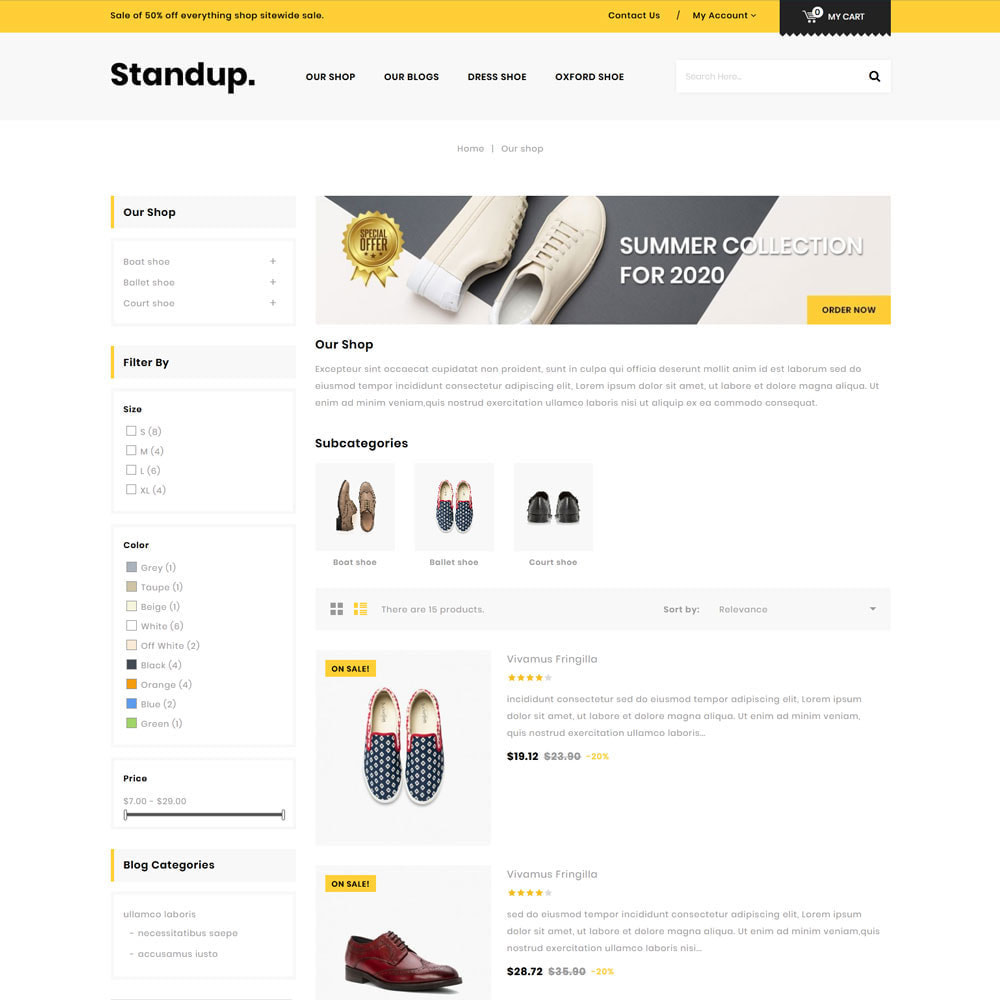 theme - Fashion & Shoes - Standup - The Shoes Store - 5