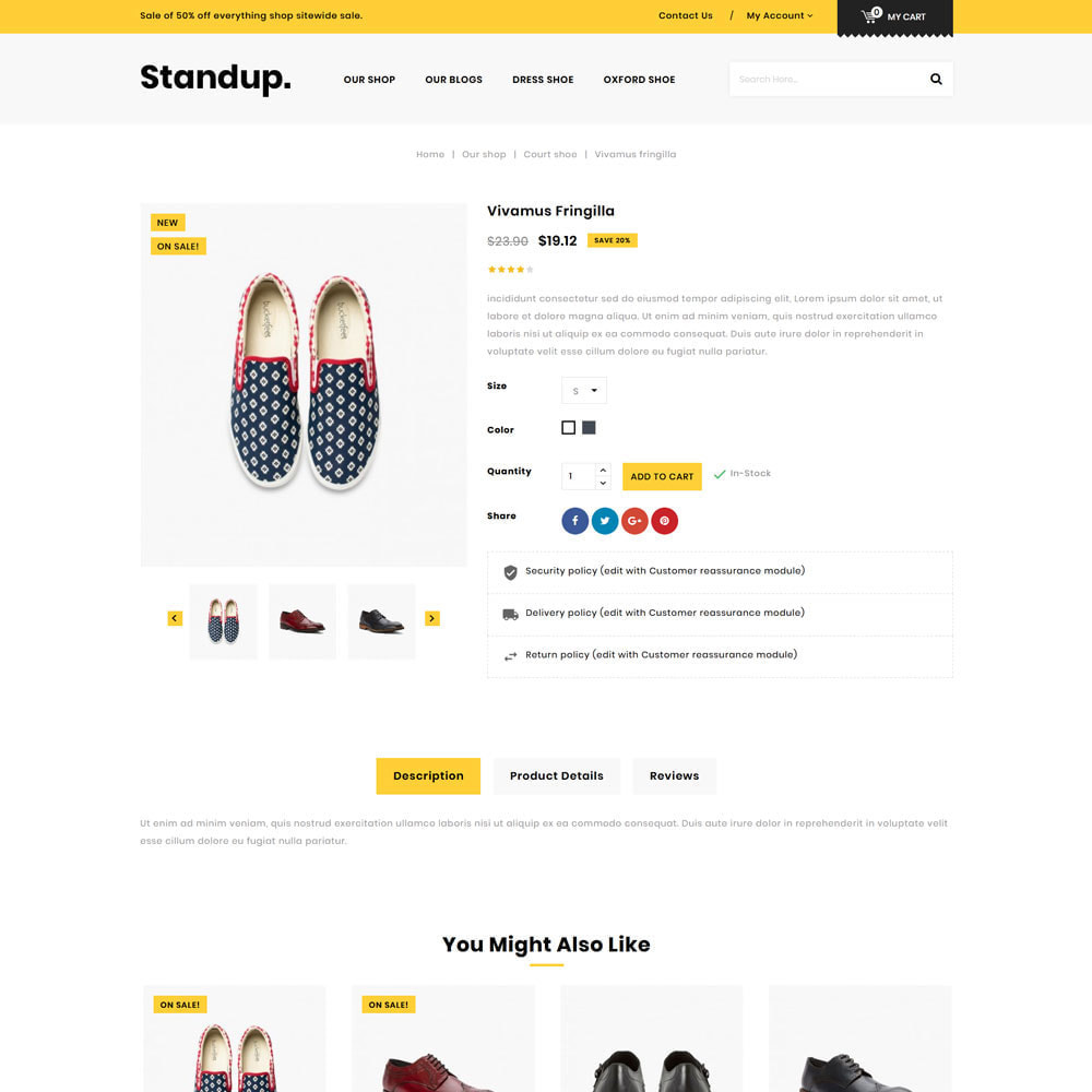 theme - Fashion & Shoes - Standup - The Shoes Store - 6