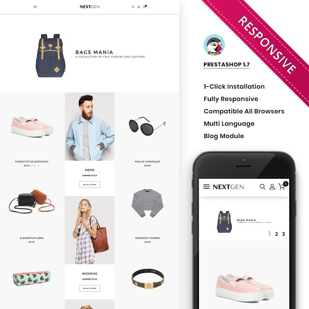 theme - Fashion & Shoes - Nextgen - The Fashion Store - 1