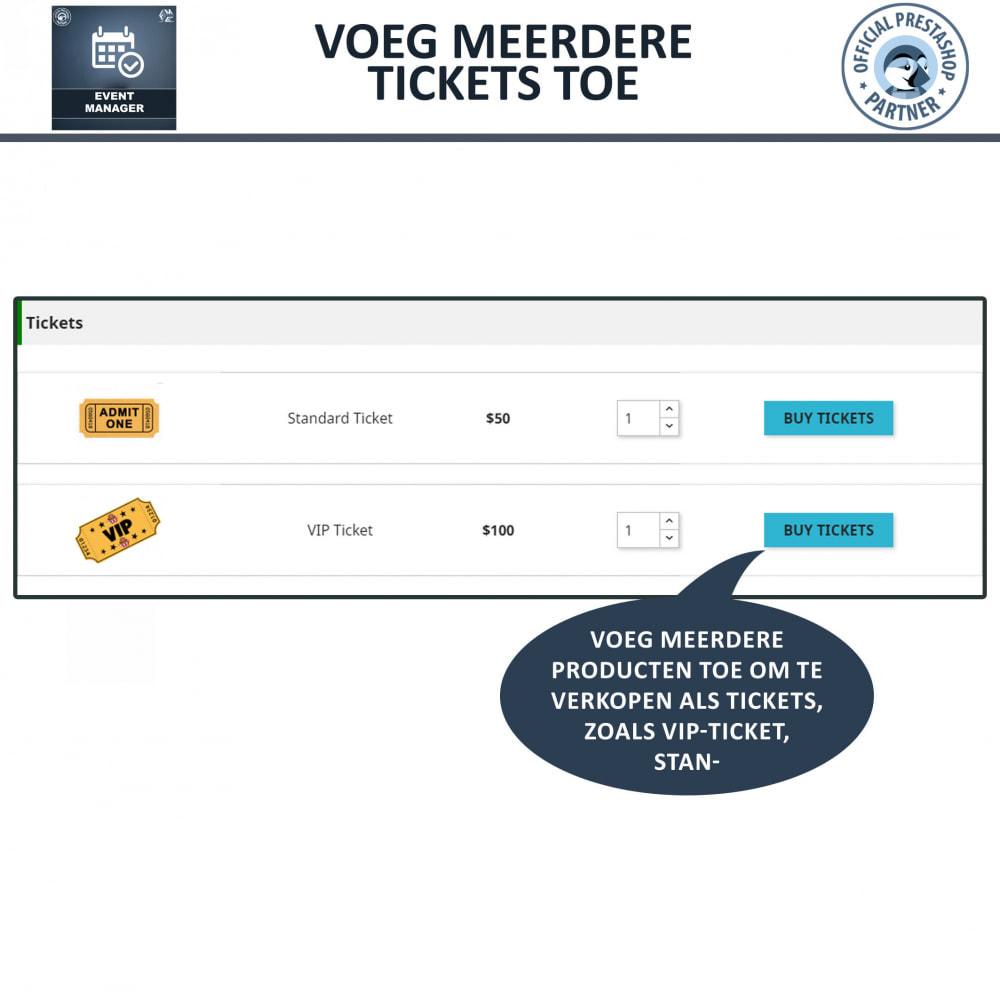 module - Verhuur en reserveringen - Evenementen Manager, Maak Evenementen en Verkoop Ticket - 5